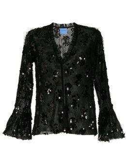Macgraw блузка Nocturnal с оборками и пайетками AV24
