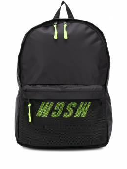 MSGM рюкзак с логотипом и сетчатыми вставками 2841MDZ075890