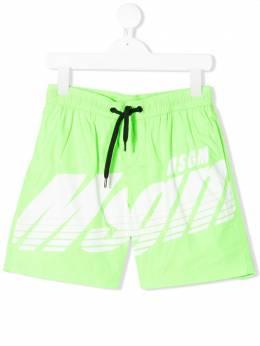 MSGM Kids плавки-шорты с логотипом 022252