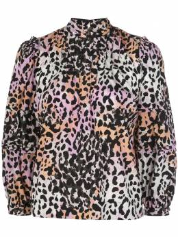 Veronica Beard блузка с леопардовым принтом 2003SDC034829