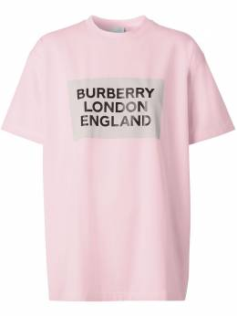 Burberry футболка оверсайз с логотипом 8026882