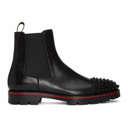 Christian Louboutin Black Melon Spikes Chelsea Boots 3181222