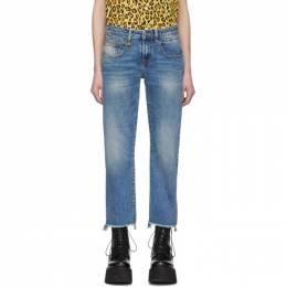 R13 Blue Ripped Boy Jeans R13W0091-143A