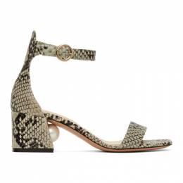 Nicholas Kirkwood Grey and Black Snake Miri 55 Sandals 905A18SNK0