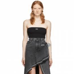 Off-White Black Strapless Bodysuit OWDD018S20FAB0011001