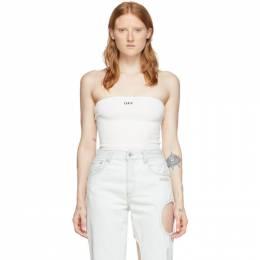 Off-White White Strapless Bodysuit OWDD018S20FAB0010110