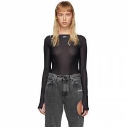 Off-White Black Basic Sheer Bodysuit OWDD020S20FAB0011001