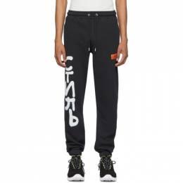 Heron Preston Black Spray Style Lounge Pants HMCH008S208090301001