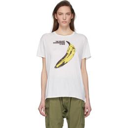 R13 White The Velvet Underground Edition Boy T-Shirt R13W3610-04