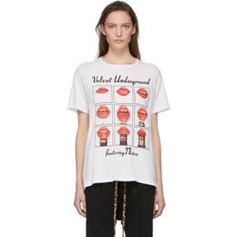 R13 Off-White The Velvet Underground Edition Lips Boy T-Shirt R13W3582-04