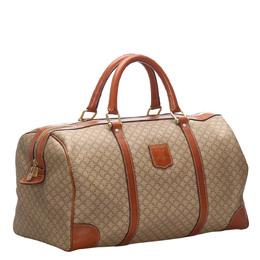 Celine Brown Macadam PVC Duffel Bag 276260