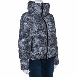 Moncler Grey Astrakhan Print Down Quilted Ratel Jacket S 279047