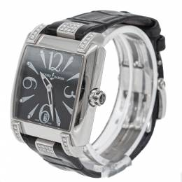 Ulysse Nardin Black Caprice Diamond Dial & Bezel Stainless Steel Automatic Watch 35MM 279263
