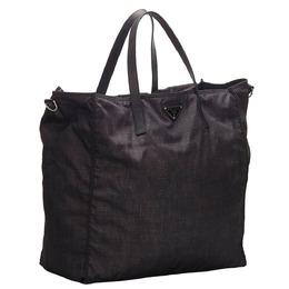 Prada Black Nylon Tote Bag 273995