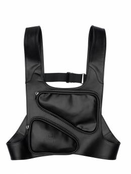 Faux Leather Harness W/ 3d Pockets A-Cold-Wall* 71IXMS006-QkxBSw2