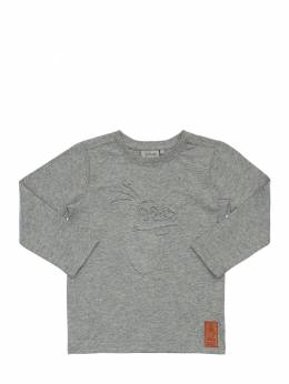 Olaf Embossed Cotton Jersey T-shirt Wheat 71IWX4039-MDIyNA2