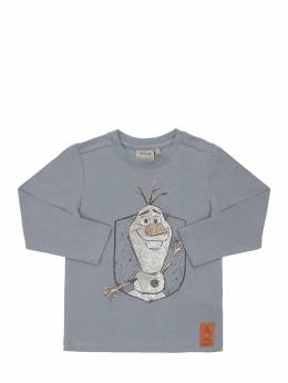 Olaf Print Organic Cotton T-shirt Wheat 71IWX4038-MTIwNg2