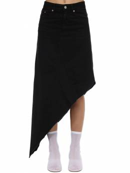 Asymmetric Cotton Denim Midi Skirt Mm6 Maison Margiela 71IWJS015-OTAw0