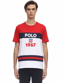 Футболка Из Хлопкового Джерси С Логотипом Polo Ralph Lauren 71IVU0007-MDAx0