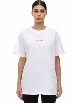 Logo Cotton Jersey T-shirt 1017 Alyx 9Sm 71IVRH029-V1RIMDAwMQ2
