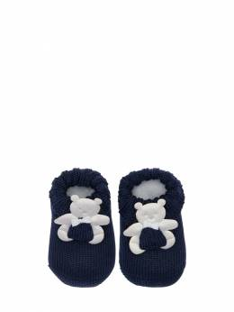 Cotton Knit Socks W/ Bear Appliqués La Perla 71IOF8008-Qjg1