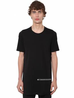 Drkshdw Long Cotton Jersey T-shirt Rick Owens 71IM06005-MDk1