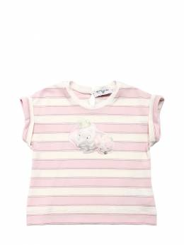 Dumbo Striped Viscose Blend T-shirt Monnalisa 71ILX3009-MDE5MQ2