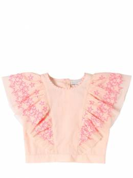 Рубашка Из Органического Льна Stella McCartney Kids 71I6SH021-NTc2OQ2