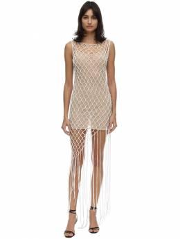 Платье Из Сетки Off-White 71I3KW058-MTAwMA2