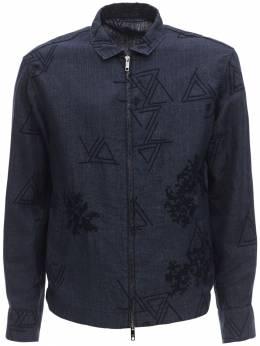 Пиджак Из Льна С Вышивкой Giorgio Armani 71I3EZ003-VUJVVg2