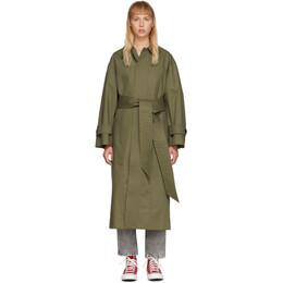 Ami Alexandre Mattiussi Khaki Mac Trench Coat E20FOW300.236