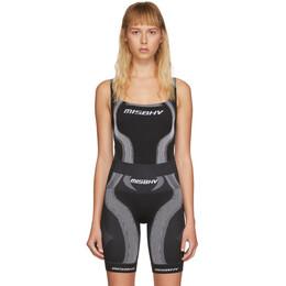 Misbhv Black and White Active Bodysuit 020W505