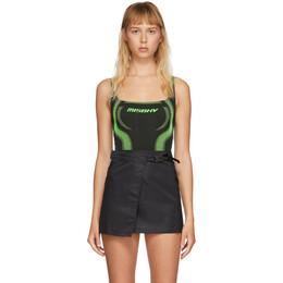 Misbhv Black and Green Active Bodysuit 020W555