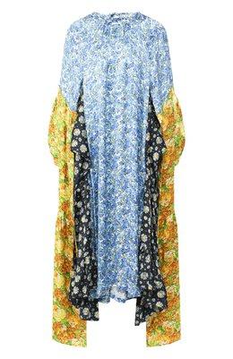 Платье из вискозы Vetements SS20DR177 2605/W/BLUE VI0LET MULTI C0L0R
