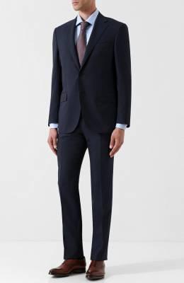 Шерстяной костюм с пиджаком на двух пуговицах Corneliani 827268-8818414/92 Q1