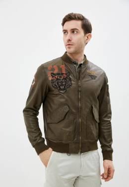 Куртка кожаная Aeronautica Militare PN50091839