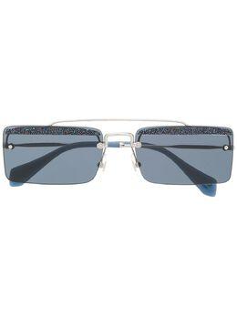 Miu Miu Eyewear солнцезащитные очки в квадратной оправе SMU59T
