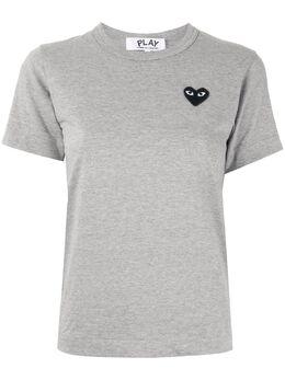 Comme Des Garcons Play футболка с нашивкой-логотипом AZT075051
