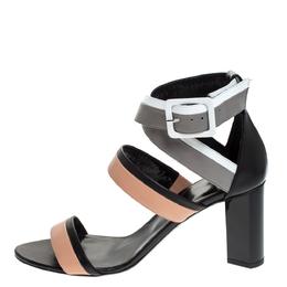 Pierre Hardy Multicolor Leather Alpha Buckle Cross Strap Sandals Size 40 279390