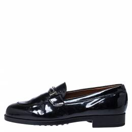 J.P Tod's Black Patent Slip On Loafers Size 36 Tod's 279344
