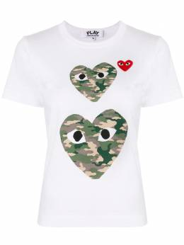 Comme Des Garcons Play футболка с круглым вырезом и логотипом AZT245051