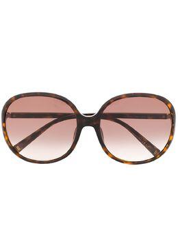Givenchy Eyewear массивные солнцезащитные очки черепаховой расцветки GV7172FS