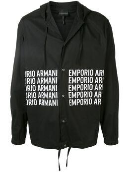 Emporio Armani куртка-рубашка с логотипом 3H1C881N6RZ