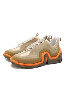 Замшевые кроссовки Pierre Hardy RX01/SUEDE CALF