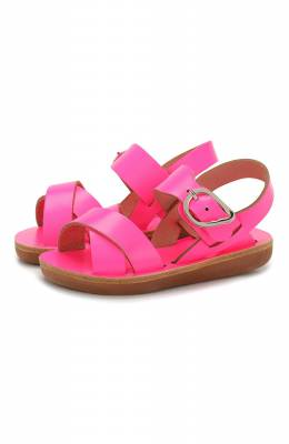 Кожаные босоножки Ancient Greek Sandals LITTLE S0CRATES S0FT/FLU0 FUCHSIA