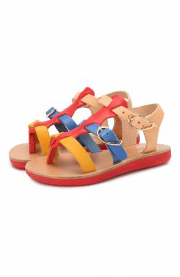 Кожаные босоножки Ancient Greek Sandals LITTLE GRACE KELLY S0FT/BRIGHT MIX