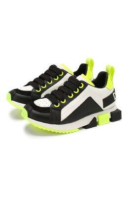 Кожаные кроссовки Dolce&Gabbana DA0711/AX077/29-36