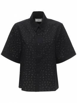 Рубашка Из Поплин И Кружева Ami Paris 71IXJQ012-MDAx0