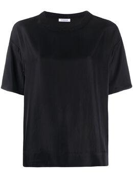 P.a.r.o.s.h. футболка с круглым вырезом в рубчик TILTD300763