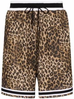 John Elliott шорты Game с леопардовым принтом C033M23415A